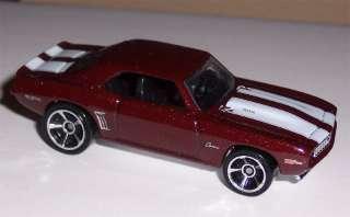 2011 Street Beasts Hot Wheels 69 Camaro 1969 Z28 SS RS Hotwheels