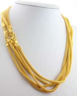 10pcs Gold Plated Snake Chain Necklace Fit European Charm