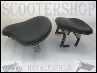 ROYAL ENFIELD NEW AMERICAN STYLE BLACK LEATHER SEATS