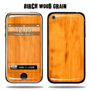Decal Sticker for Apple iPhone 3G/3GS 8GB 16GB 32GB   Birch Wood Grain