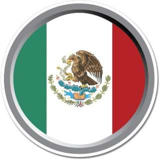Mexico Round Flag Wall Window Car Vinyl Sticker Decal Mural   Pick