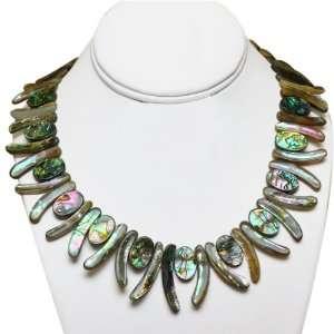 18 Black Shell Sun Shaped Abalone Necklace Jewelry