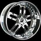22 FORGIATO ESTREMO WHEELS CHALLENGER SRT8 WHEELS RIMS 3PC STAGGERED