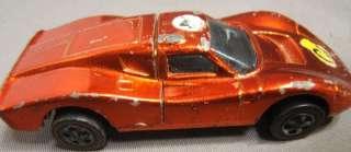 1969 Hot Wheels RED LINE FORD MARK IV Metallic Orange USA Lift Up Back