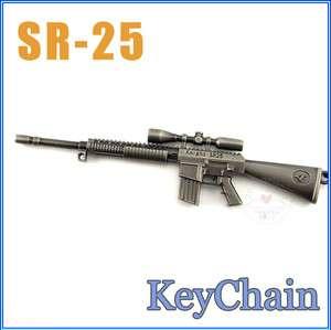 US Knight SR 25 Sniper Miniature Rifle Gun Model Keychain ring