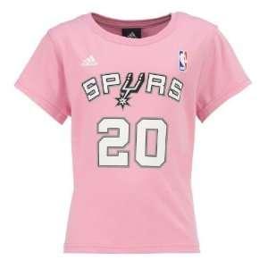 Academy adidas Girls San Antonio Spurs Manu Ginobili #20 T