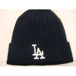 Dodgers Beanie Knit Cap Cuff navy mlb Winter Knit Hat