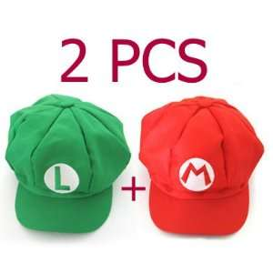 Super Mario Bros Hat Mario Luigi Cap Cosplay Red Green Toys & Games