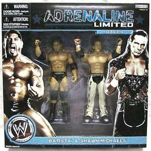 WWE Jakks SHAWN MICHAELS & BATISTA 2 Pack ADRENALINE LIMITED Figures