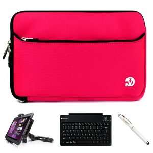 Hot Pink Neoprene Sleeve Carrying Case Cover for Acer Iconia Tab A200