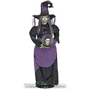 HALLOWEEN ANIMATED WITCH PROP W/ TALKING CRYSTAL BALL