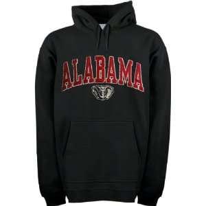Alabama Crimson Tide Black Acid Washed Mascot Hooded