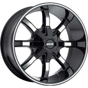 20x9.5 MKW M81 (Gloss Black w/ Machined Face) Wheels/Rims