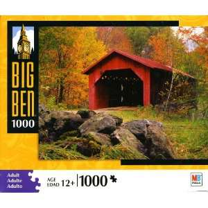 Big Ben 1000 Piece Puzzle   Covered Bridge, Montgomery Center, Vermont