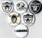 oakland raiders set of 6 pins buttons badges $ 3 49 see suggestions