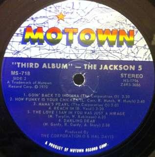 MICHAEL JACKSON 5 FIVE third album LP Mint  MS 718 Vinyl 1970 Record