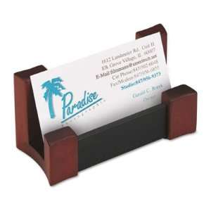 Rolodex Wood/Leather Business Card Holder ROL81766 Office