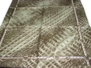 Guess Silk Scarf / Animal Print 34 X 34 (Green)