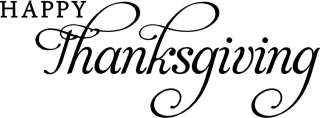 Happy Thanksgiving Wall Lettering Words Sticker Decal