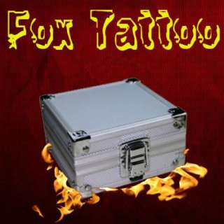 Aluminum Rotary Tattoo Machine Gun Box Case Kit Supply