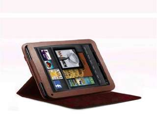 360 degree Rotary leather case fo Kindle Fire Landscape Portrait View