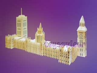 Woodcraft Construction Kit Wood Model Big Ben London