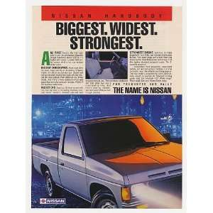 Nissan Hardbody Pickup Truck Biggest Widest Print Ad Home & Kitchen