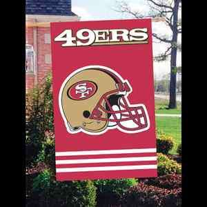 San Francisco 49ers Football NFL Flag 2 Side Embroidered Logo Large