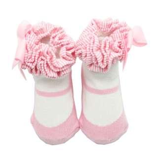 US New Baby Infant Children Girls Dance Kid Socks Booties Shoes Cute