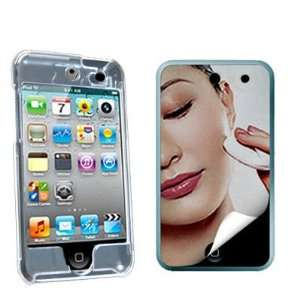 Clear Crystal Hard Snap on Skin Case + Mirror LCD Screen