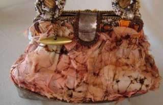 MARY FRANCES Baby Doll Beaded Silk Tatter PURSE NWT
