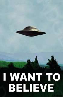 WANT TO BELIEVE   X FILES LARGE fridge magnet   COOL