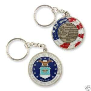 Air Force Wife Challenge coin Keychain  Spouse AF
