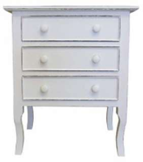 Coastal COTTAGE NIGHTSTAND Side TABLE French Country Solid Wood 40