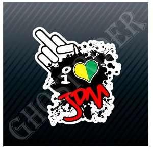 Finger I love Shocker Racing Race Track Sticker Decal