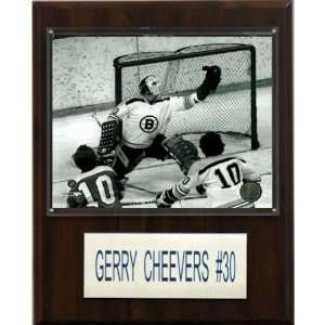 NHL Gary Cheevers Boston Bruins Player Plaque Home