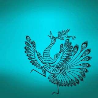 Vinyl Wall Decal Sticker Asian Style Peacock bird