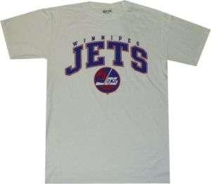 Winnipeg Jets Throwback T Shirt jersey ARCH WHT Small