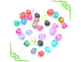 400 Pcs Mixed color Spacer findings Loose Beads Bracelets charms 6mm