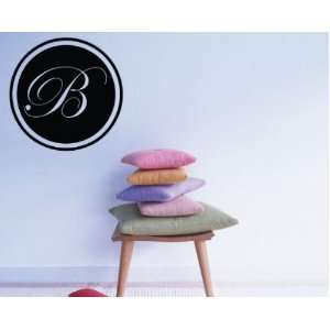 Letter B Monogram Letters Vinyl Wall Decal Sticker Mural Quotes Words