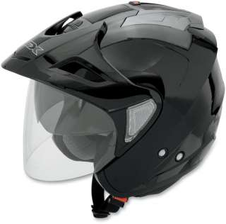 AFX FX 50 Open Face Motorcycle Helmet w/ Shield and Visor Gloss Black