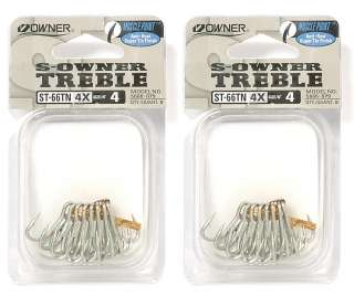 Owner Treble Hooks ST 66TN Muscel point, Anti Rust Super Tin Finish
