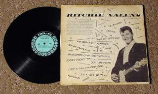 RITCHIE VALENS 1959 1ST PRESS BLUE DEL FI DFLP 1201