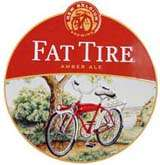 Fat Tire Beer   New Belgium Brewing   Large Round Metal Sign ( Tin