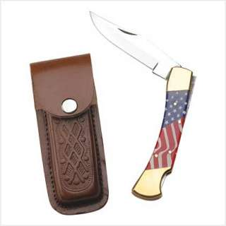 FATHERS DAY & USA VETERAN GIFT FLAG POCKET KNIFE SET
