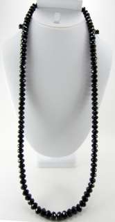 RICK ROSS BLACK 6MM GLASS HIP HOP FACETED DIAMOND CUT BEADED CHAIN