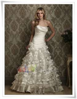 2012 Noble White/Ivory Wedding Evening Dress Bridesmaid Prom Ball Gown