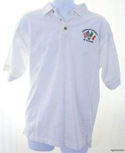 EMERALD SOCIETY Unisex White Cotton Polo Shirt Extra Large XL