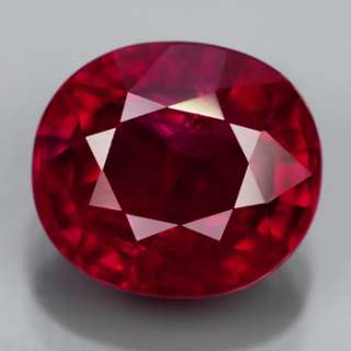 Natural Gem 3.18ct 8.8x7.8mm Oval Pigeon Blood Red RUBY, MOZAMBIQUE
