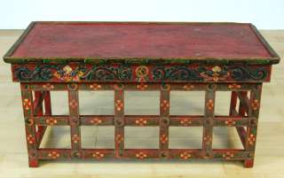 ANTIQUE TIBETAN CYPRESS WOOD PRAYER TABLE Altar Stand